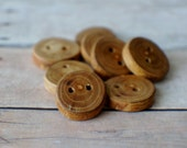 Wooden Button, Wood large button, Roung Wood Button, Knitting Sewing Jewelry Finding
