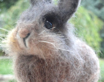 YOUR RABBIT - Custom Pet Rabbit - 3D Pet Replica - Pet Memorial - Easter Rabbit - Needle Felted Rabbit - Made To Order