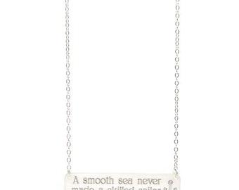 CUSTOM QUOTE NECKLACE - que sera sera - quote necklace - silver quote necklace - personalized quote necklace - inspirational quote necklace
