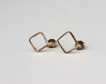 Square Geometric Stud Earrings