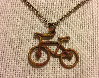 """22"""" Bronze Multicolored Bike Necklace"""