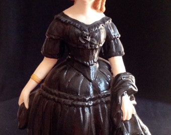 Altered Porcelain Witch Figurine
