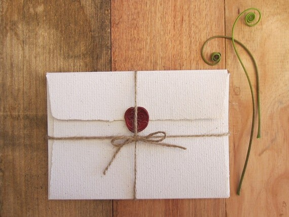 Wedding Invitations Recycled Paper: 4 Letter Envelopes Handmade Recycled Paper Invitation Paper