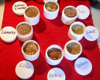 Sabbat Incense set | Holiday Incense set | Wiccan starter kit | Loose Incense set | Altar Starter kit | Wiccan Sabbat collection