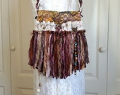 Boho Chic Gypsy Fringe SMALL Hand Bag with Rear Flap Closure! - Small Cell Phone Purse - Small Hippie Fringe Purse - Boho Bag