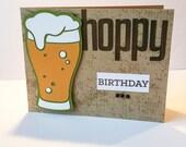 Hoppy Birthday Happy Birthday Beer Glass Card