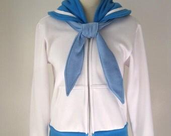 Sailor Mercury Seifuku Cosplay Costume Uniform Ami Mizuno Hoodie Jacket