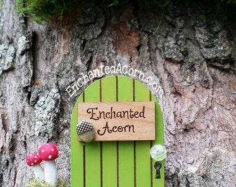 TINY Acorn Fairy Garden Door - Enchanted Acorn Miniature Fairy Garden Accessory