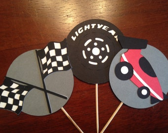 Cars Cupcake Toppers, Race Car Cupcake Toppers