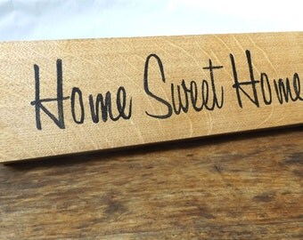 Home Sweet Home Plaque - Oak Wood Home Plaque - Welcome Plaque - Home Sign - Home decor - Housewarming gift - Wedding Gift