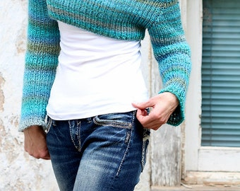 Crop Top Sweater Knitting Pattern - CLARITY