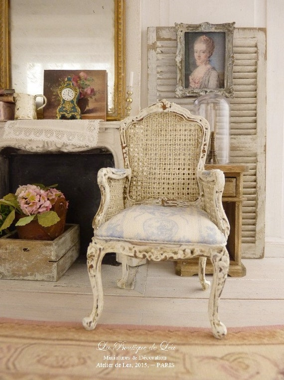 louis xv toile de jouy cabriolet pale blau pale. Black Bedroom Furniture Sets. Home Design Ideas