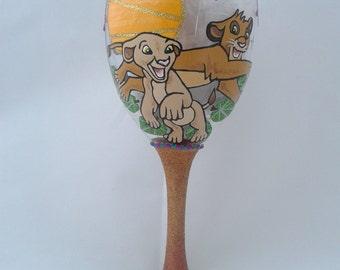 Disney's The Lion King Design Wine Glass