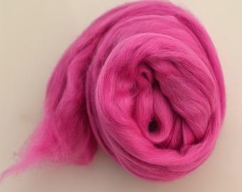 RASPBERRY - Merino Wool Roving 1/4oz,  1/2oz or 1oz