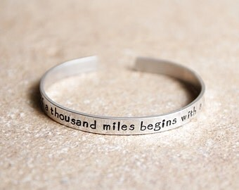 Hand Stamped Bracelet, Hand Stamped Jewelry, Metal Bracelet, Inspirational Jewelry, Custom Stamped Cuff