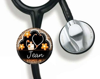 Stethoscope Name Tag, Nurse RN LVN Personalized ID Tag, Gift for Nurse, Medical Field, Nurse Gift, Hospital Identification Tag, Gift for Her