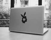 """Woman profile macbook pro and air iPad stickers decal for 11,13,15,17"""""""