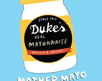Duke's Mayonnaise greeting card
