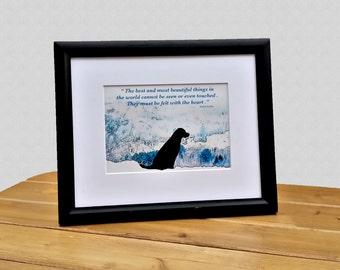 Black Labrador Quote Art - Black Lab Art - Quote Print - Black Labrador Retriever Art - Quote Art - Dog Lover Gift