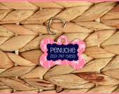 Pet Tag ID Tag Pets Cats Dogs Dog Tag Personalized Cat Tag Monogram Nautical Palm Trees Dog Gift