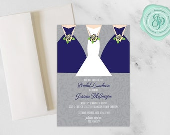 Bridesmaids Luncheon Invitation | Bridal Luncheon | 5x7 Invitation | A7 Envelopes | Download and Printing Avaliable | Custom Invitation