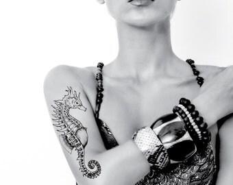 Seahorse Temporary Tattoo - Rub On Individual Design