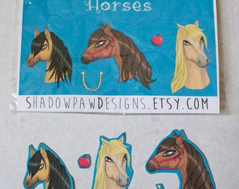 Horse Head Stickers