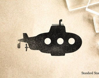 Submarine Rubber Stamp - 3 x 2 inches