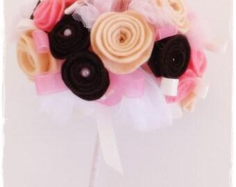 bridal bouquet, felt bouquet, bouquet bridesmaids, bride, bridesmaid