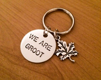 WE ARE GROOT keychain -Guardians of the Galaxy keychain
