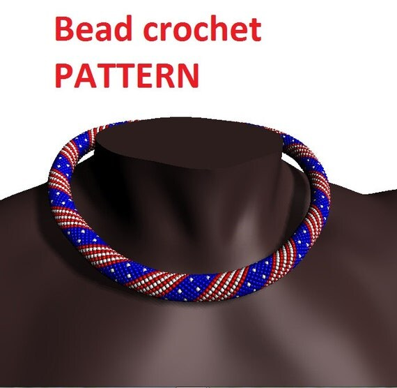 American flag usa striped bead crochet pattern beading for Patriotic beaded jewelry patterns