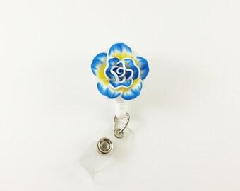 Flower Badge Reel - Retractable ID Badge - Name Badge Holder - Decorative Badge - Nurse Badge Holder - Teacher Badge Clip - RN Badge Reel