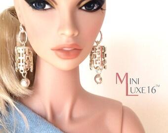 """16"""" Doll Jewelry -  Silver Earrings - Tonner Tyler, Sybarite, FR16, Poppy Parker Fashion Teen"""
