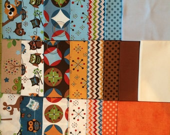 Hooty Hoot Returns FREE SHIPPING by Doohickey Designs for Riley Blake Fat Quarter Bundle