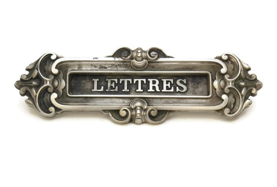 Antique French Letter Box Flap French Antique Mail Box Cover