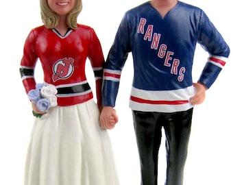 Custom Made Hockey Jersey Wedding Cake Topper