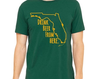 Bulls- Drink Beer From Here- Florida USF- FL Craft Beer Shirt