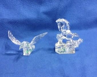 A Pair of Krystal Color Figurines