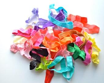 Adjustable loop headbands, 1.00 each, elastic headbands, baby headbands, interchangeable headbands
