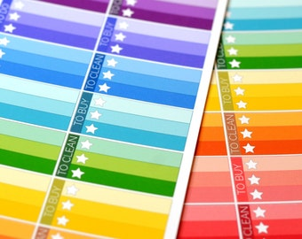 20 Star Checklist Box Stickers (To Do, To Buy, To Clean) for your Erin Condren Life Planner