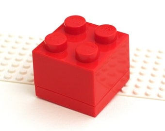 GIFT BOX red brick for small cufflinks. For small Cuff links made with LEGO(R) bricks.