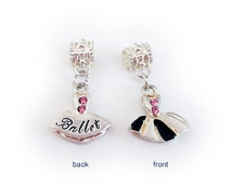 Ballet Charm Fits Pandora Style Charm Bracelet or Necklace