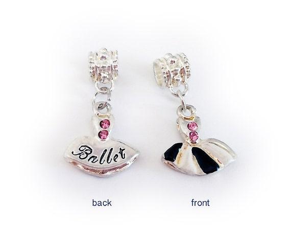 ballet charm fits pandora style charm by prettybeadedjewelry