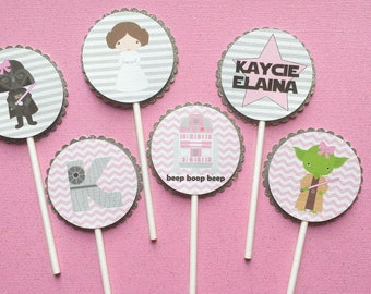 Girly Star Wars Cupcake Toppers