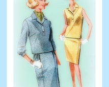 Vintage 1960s McCall's 6761 Misses' Two-Piece Dress And Scarf Sewing Pattern
