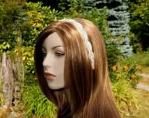 Crystal Headband, Intertwining Bands of Rhinestones & Beads, Bridal Headband, Wedding Headpiece, Bridesmaid Hairpiece, Diamante Head Piece