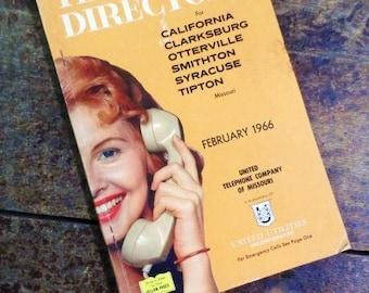 February 1966 TELEPHONE DIRECTORY-California-Clarksburg- Otterville- Smithton- Syracuse-Tipton Missouri-United Telephone Company of Missouri