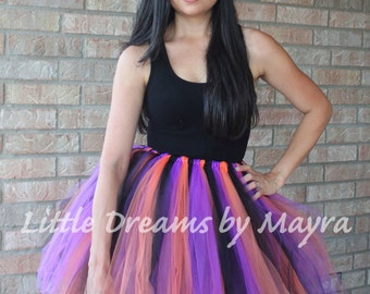Adult Halloween tutu - Teen Halloween tutu - adult witch tutu skirt - Woman Halloween costume - woman size plus tutu skirt