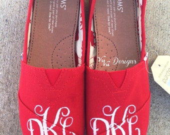 Hand-Painted, Monogrammed Toms