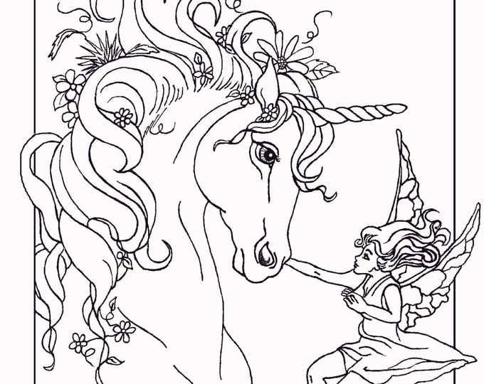Unicorn Colouring Sheet Coloring Pages For Adults